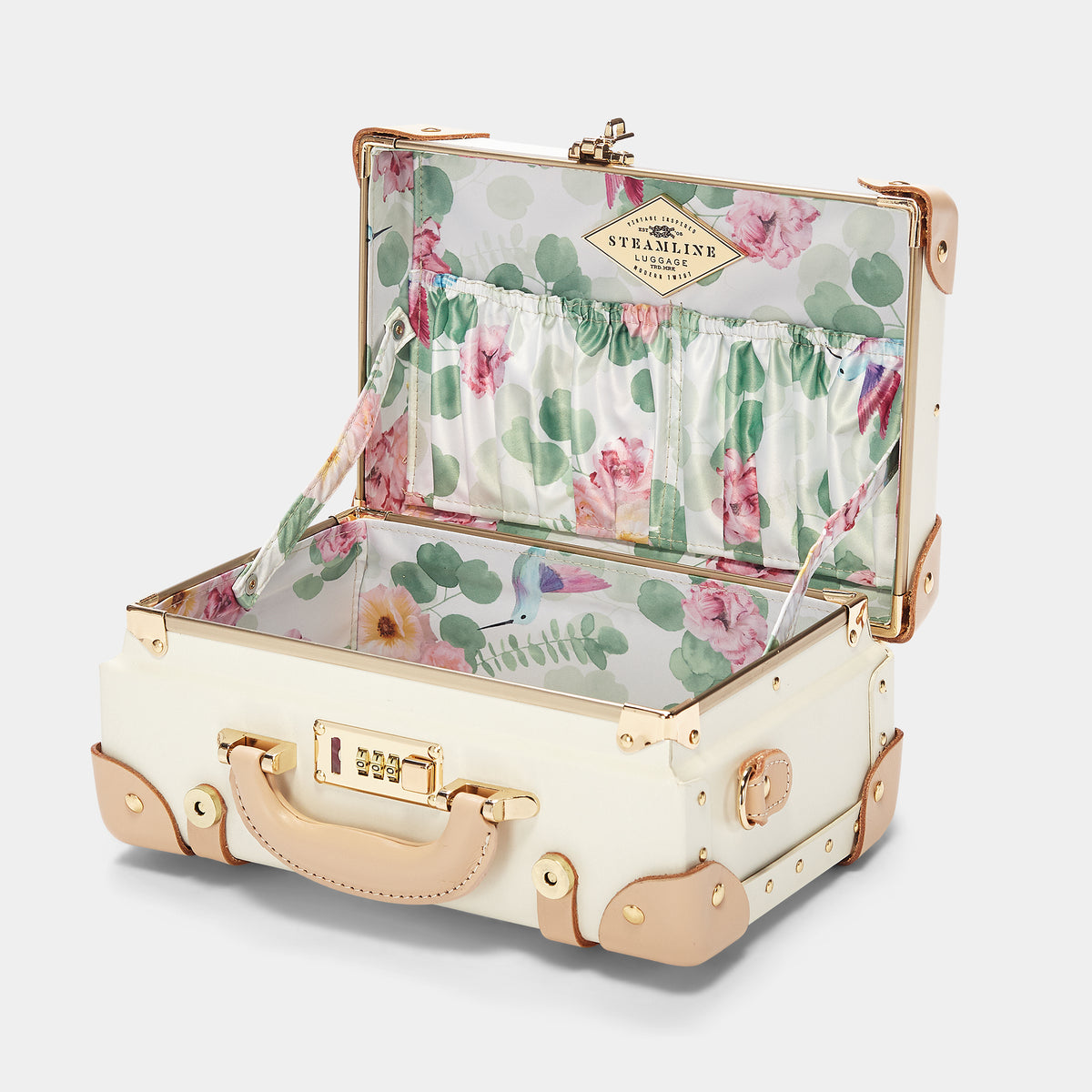 The Sweetheart Vanity - Vintage-Inspired Luggage - Interior Front