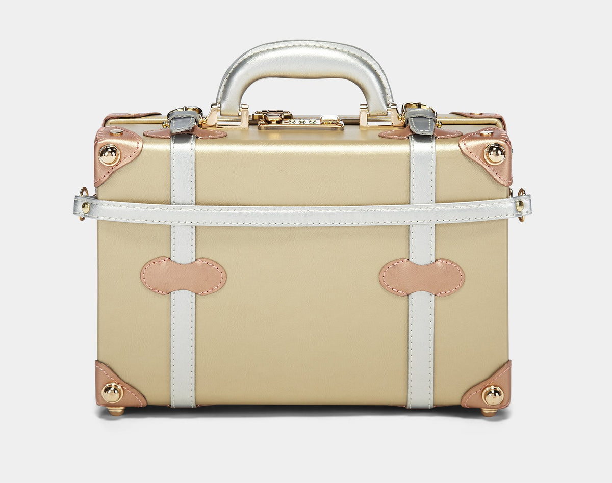 The Alchemist Vanity - Retro-Style Vanity Case - Exterior Back with strap