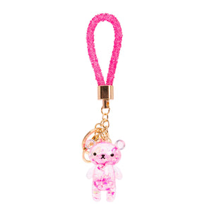 Glitter Bear Key Chain Pink