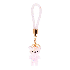 Glitter Bear Key Chain Holographic