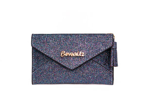 Charlotte Envelope Card Holder Glitter Blue
