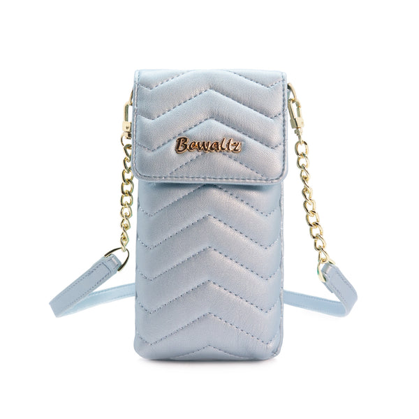 Mila Mini Phone Wallet Crossbody - Blue
