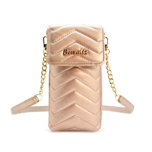 Mila Mini Phone Wallet Crossbody - Rose Gold