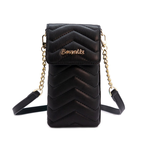 Mila Mini Phone Wallet Crossbody - Black