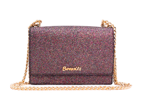 Stella Street Crossbody Bag - Glitter Black