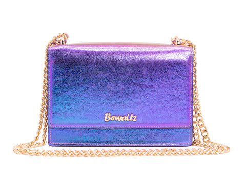 Stella Street Crossbody Bag - Iridescent Blue