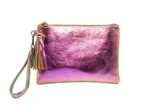 Pouch Iridescent Pink