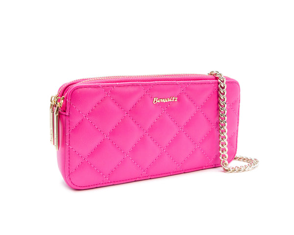 Quilted Wallet Crossbody - Fresh Pink