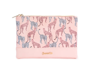 Pink Leopard Pouch