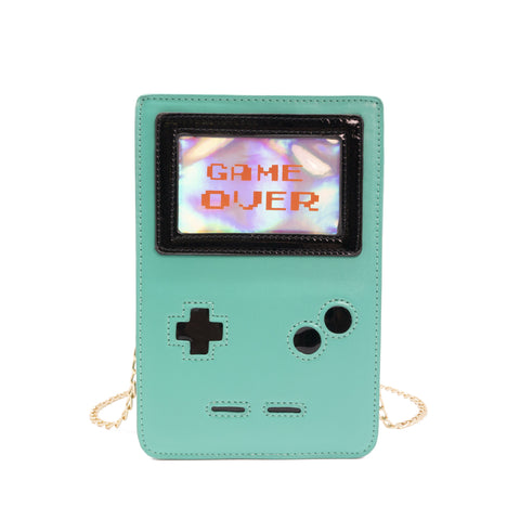 Retro 8-Bit Gamer Handbag Green