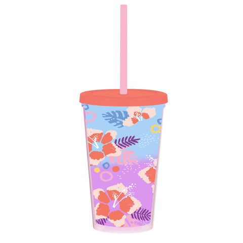 Color Changing Tumbler Tropical