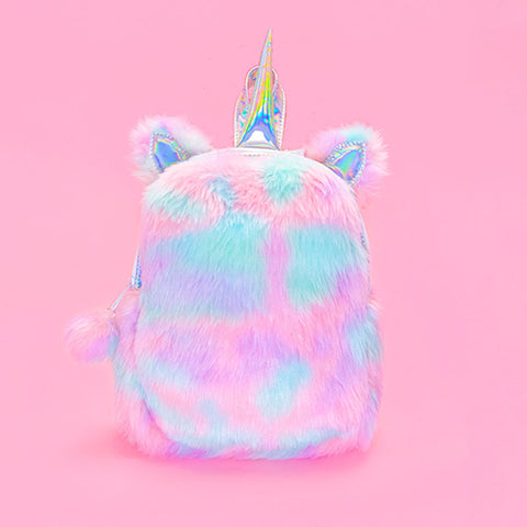Plush Rainbow Unicorn Backpack - Sherbet