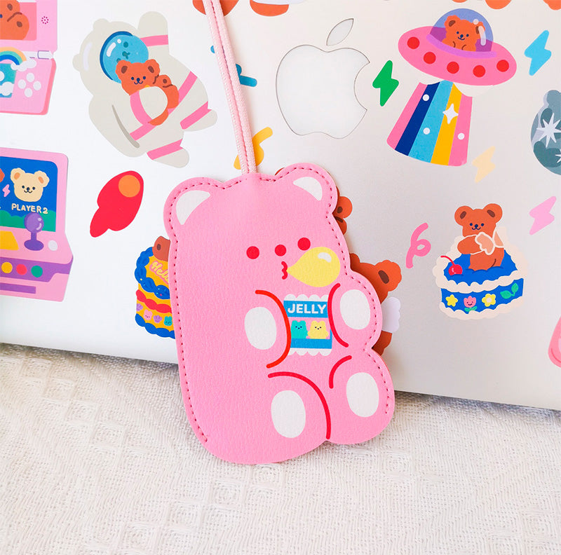 Cute Bear Keychain - Pink Jelly Beans
