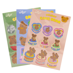 Cute Bear Sticker Pack (12pc)