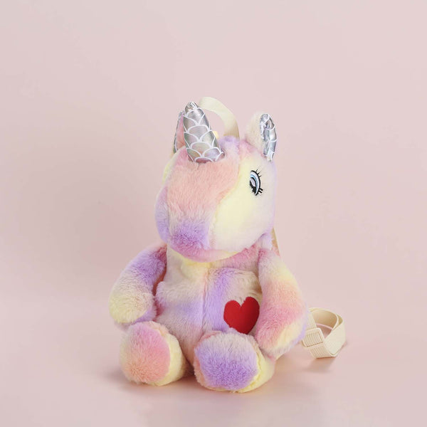 Plushie Heart Unicorn Backpack - Pink