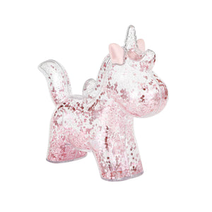 Clear Unicorn Piggy Bank - Pink