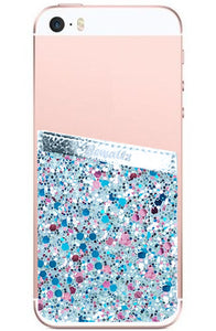 Phone Pocket Blue Glitter