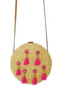 Circle Tassel Crossbody Pink