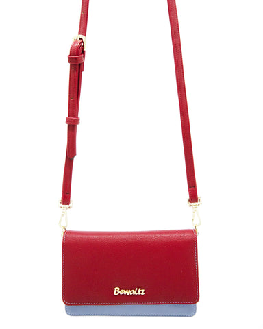 Bella Crossbody Phone Wallet - Red