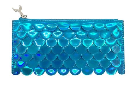 Holographic Scales Pencil Pouch Blue