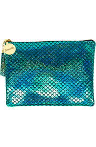Mermaid Makeup Large Pouch Green