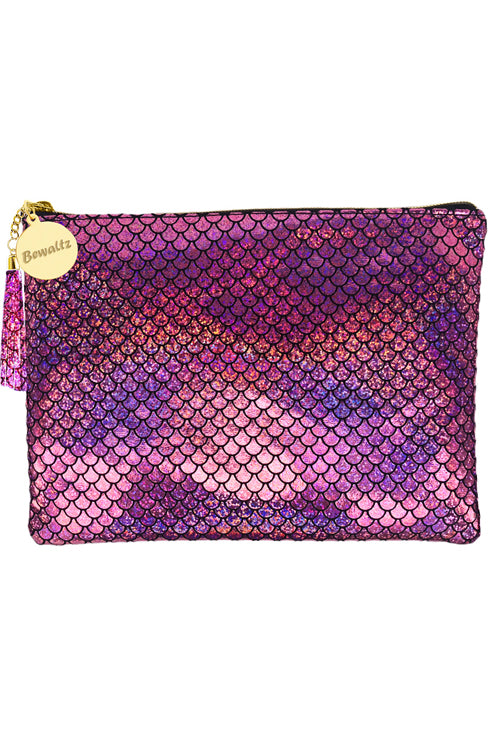 Mermaid Makeup Large Pouch Pink