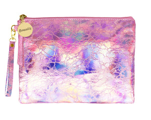 Holographic Makeup Small Pouch Pink