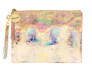 Holographic Makeup Small Pouch Rose Gold