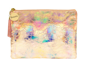 Holographic Makeup Large Pouch Rose Gold