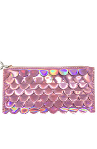 Holographic Scales Pencil Pouch Pink