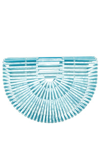 Fan Basket Bag Blue