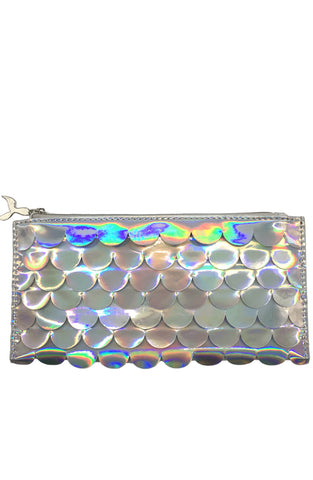 Holographic Scales Pencil Pouch Silver