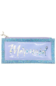 Floating Glitter Pencil Pouch Mermaid