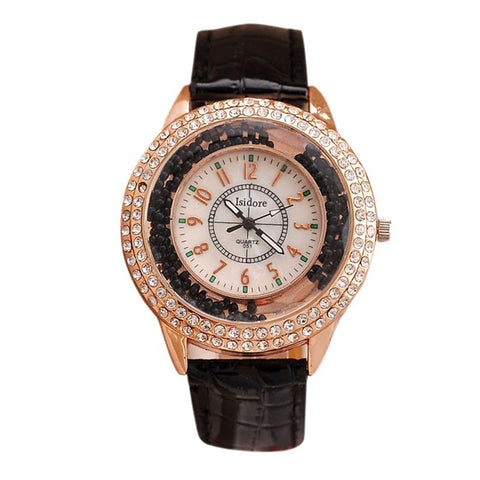 Luxury Crystal Rhinestone Watches 10 Colors - ladyfashes