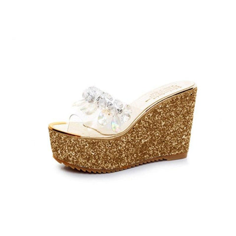 ab6ec9a00432 Sandals Wedges High Heels 2 Colors - ladyfashes