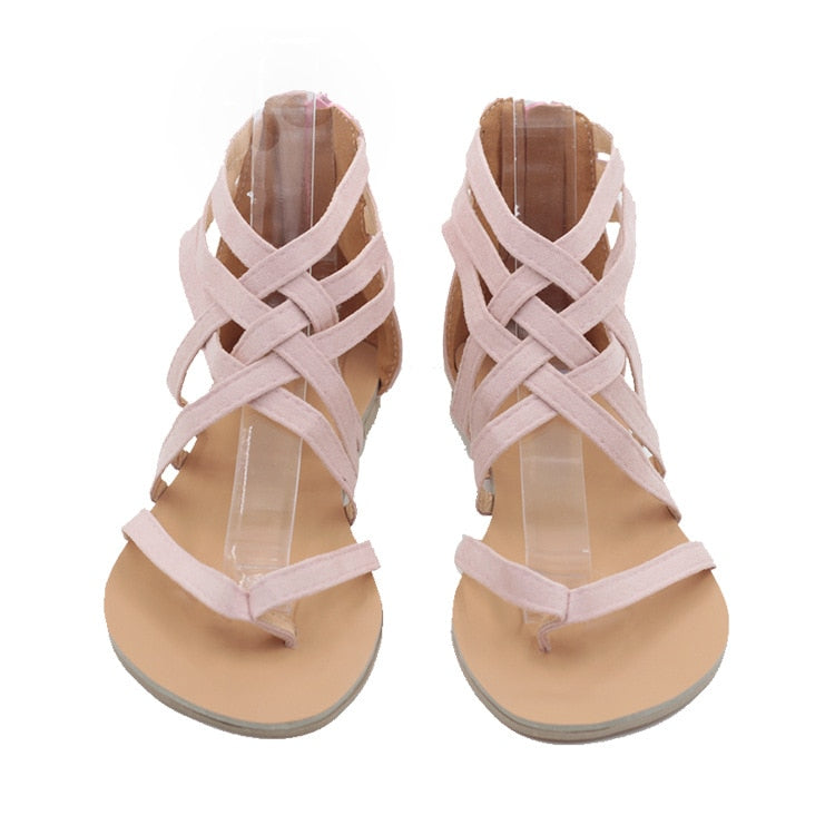 a184d9ae8fc9 Flats Summer Sandals 3 Colors - ladyfashes