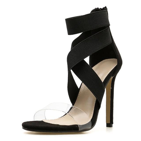 b9cb2c6f8d9d Gladiator Ankle-Wrap High Heels 2 Colors - ladyfashes