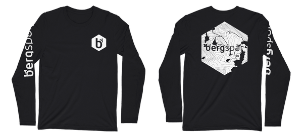 Premium Fitted Hexagon Topograph Long-Sleeve Crew