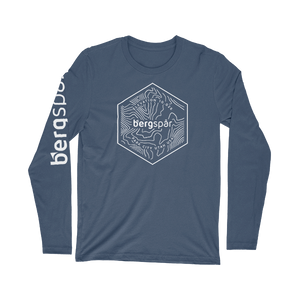 Premium Fitted Front Hexagon Elevation Long-Sleeve Crew