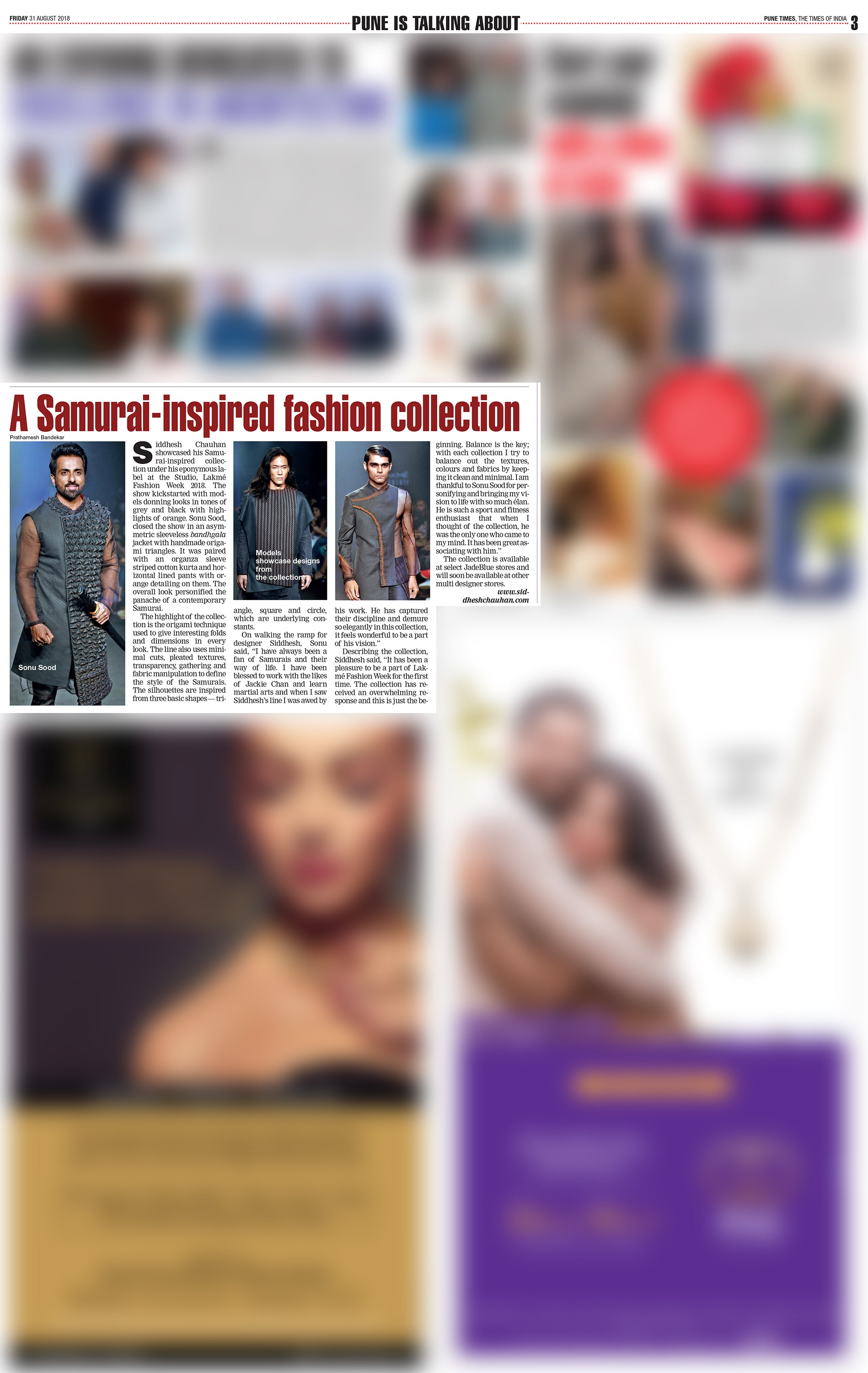 Samurai Collection by Siddhesh Chauhan | Lakme Fashion Week 2018 | Pune Times