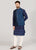 Dark Teal Blue Kurta Set with Jacket