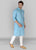 Turkish Blue & Green Kurta Set