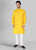 Bright Yellow & Green Kurta Set