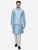 Ice Blue Kurta Set with Ice Blue Jacket