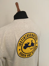 Load image into Gallery viewer, JUSTINTOSCOOTERS NAVY/YELLOW LOGO SWEATSHIRT