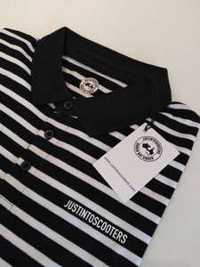 JUSTINTOSCOOTERS STRIPED POLO SHIRT