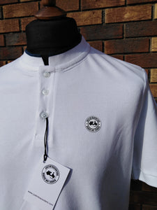 JUSTINTOSCOOTERS STAND COLLAR POLO SHIRT