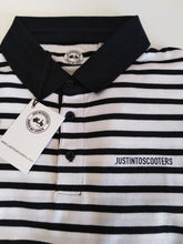 Load image into Gallery viewer, JUSTINTOSCOOTERS STRIPED POLO SHIRT