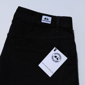 STRAIGHT FIT BLACK DENIM JEANS