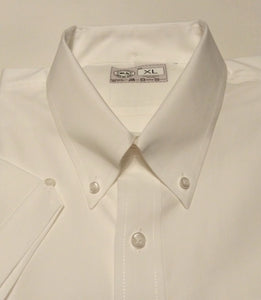 JUSTINTOSCOOTERS WHITE OXFORD COTTON SHORT SLEEVE SHIRT